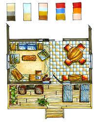 Design My Kitchen Floor Plan Floor Plan Rendering Drawing Hand Large Idolza