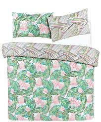 palm leaf double duvet cover