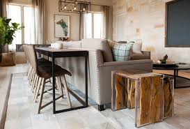 Redefining the Sofa Table Add Chairs Apartment Therapy