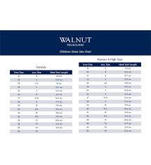Walnut Shoes Size Chart Walnut Bedford Sandal Pink Footwear Girl Kid Republic