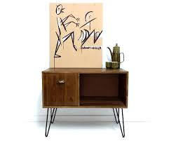 Vinyl Record Storage Console Table Record Cabinet Sideboard