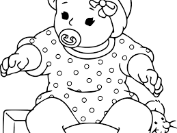 Small Picture Doll Coloring Pages For Baby glumme