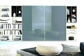 bookcase sliding glass doors bookcases modern with oak bookca