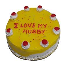 Classical Pineapple Birthday Cake For Husband Yummycake