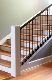 Staircase Side Railing Designs Custom Metal Handrail System With Side Mount Balusters