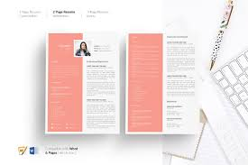 Resume Template 5 Pages Cv Design Resume Templates Creative Market