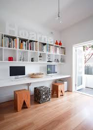 Home Office Designs: Double Workspace Under Stairs - Workspaces