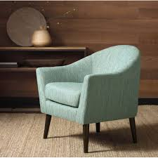 Of Living Room Chairs Grayson Teal Accent Chair Wood Stain Great Deals And Cas
