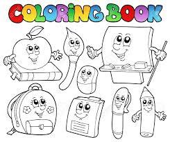 Dessins Anim S Colorier De Livres Scolaires 5 Clip Art Libres De