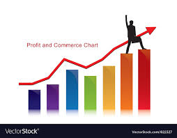 Commerce Chart Profit And Commerce Chart With Businessman