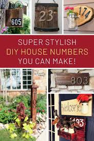these homemade house numbers are super stylish and easy to diy