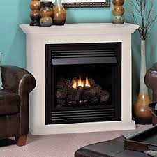 Vail 26-inch White Vent-Free Gas Fireplace Mantel Package - VFD26FMW