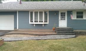 stamped concrete patio and sidewalk with stairs w46 patio