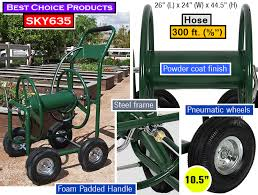 garden hose reel cart. Best Choice Products Water Hose Reel Cart | 300 Ft. Garden