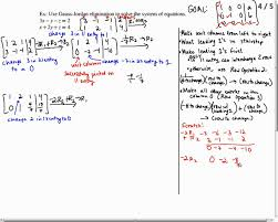 solve a system of equations with infinitely many solutions using gauss jordan elimination