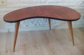 Biomorphic Coffee Table Biomorphic Coffee Table With Three Legs 1950s For Sale At Pamono