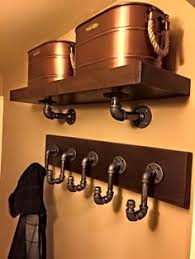 Industrial Pipe Coat Rack Industrial black pipe coat rack with shelf by Homedecorandsuch DIY 85
