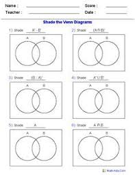 Math Venn Diagram Worksheet This Venn Diagram Worksheet Is A Great Template Using Two Sets Use