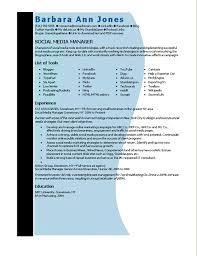 Media Resume Template Microsoft Word Social Media Manager Resume Template Resumes And Cv
