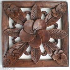 image is loading frangipani flower hard wood carved wall art hanging  on bali wood carving wall art with frangipani flower hard wood carved wall art hanging bali balinese