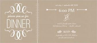 Dinner Invation Faux Kraft Paper And White Modern Dinner Invitation