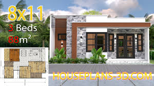 House Design House Design 8x11 With 3 Bedrooms Full Plans