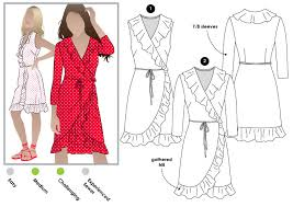 Wrap Dress Sewing Pattern Beauteous Giselle Dress Style Arc