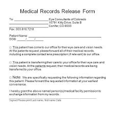 Free Medical Release Form Contact Lens Prescription Template Lenses ...