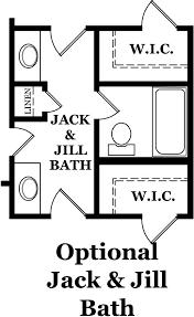jill bathroom configuration optional: jack and jill bathroom nolen park heritage hancock optional second floor jack and jill bath