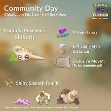 Slakoth Community Day Announced For June Pinoy Pokemon Go