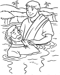 Coloring Pages Of Jesus Being Baptized 99 Colorsinfo