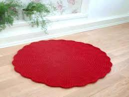 red circle rug circle carpet red round rug wool carpet red carpet crochet rug bedside red