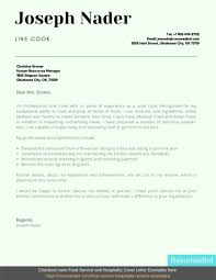 Line Cook Cover Letter Example
