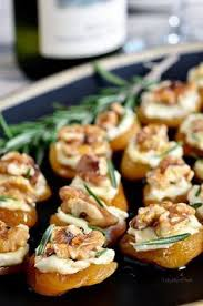 Dried Apricot Blue Cheese Canapes With Walnuts. Canapes RecipesHors D  Oeuvres ...