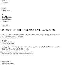 Bank Letter Format For Change Of Address Gallery Letter Samples