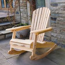 solid outdoor wooden rocking chairs
