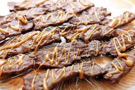 national chocolate covered anything day. Brilliant Chocolate Chocolate Covered Bacon With Caramel Drizzle For National Covered Anything Day