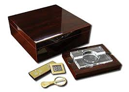 prestige import group the chamberlain cigar humidor gift set color cherry
