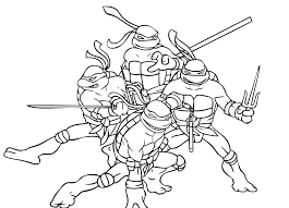 Small Picture Pictures Of Ninja Turtles Colouring Pages Studying Teenage Mutant