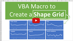 How To Layout Panel Charts Or Shape Grids In Excel With A