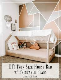 house bed pinnable image