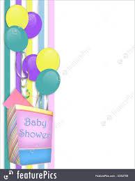 Baby Shower Invitation Cards Baby Shower Invitation Border Royalty Free Stock Illustration