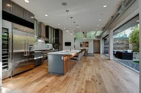 galley open concept kitchen ideas kitchen contemporary with exposed hvac  soap dispenser