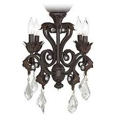 ceiling fan chandelier light kit. 4-light oil-rubbed bronze chandelier ceiling fan light kit