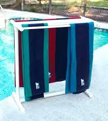 pool towel rack ideas holder outdoor for hot tub good poolside tree po
