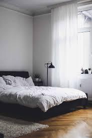 Schlafzimmer Schwarzes Bett Einrichtung Gestalten Grau Schwarz