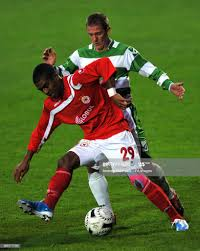 The New Saints' Barry Hogan and CSKA Sofia's Gregory Nelson battle... News  Photo - Getty Images