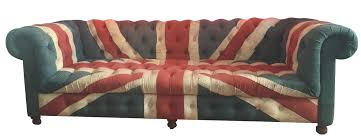 Timothy Oulton Custom Union Jack Couch for ABC Carpet & Home | Chairish