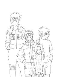 Naruto Coloring Pages Kakashi Sakura Sasuke Coloringstar