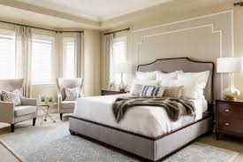 transitional master bedroom. Gorgeous Transitional Bedroom With Gray Upholstered Bed Frame Master I